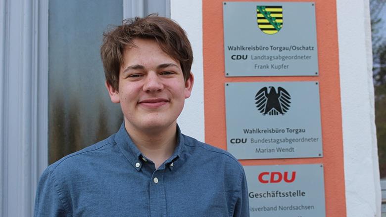 Praktikant Ben Schwarz