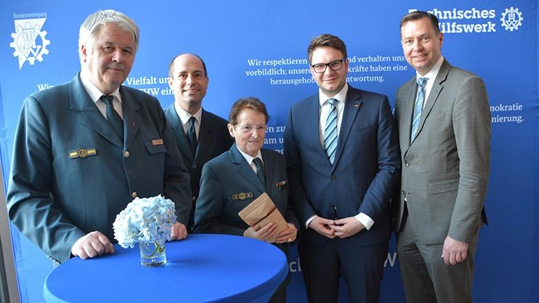 Marian Wendt trifft THW-Vertreter