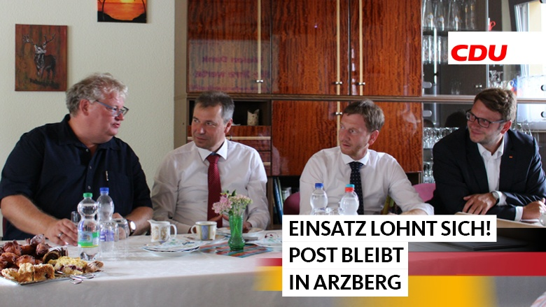 Ministerpräsident Kretschmer in Arzberg