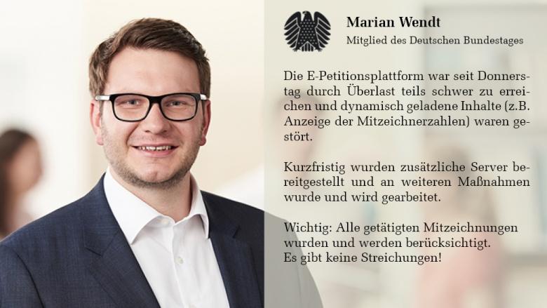 Marian Wendt E-Petitionsplattform