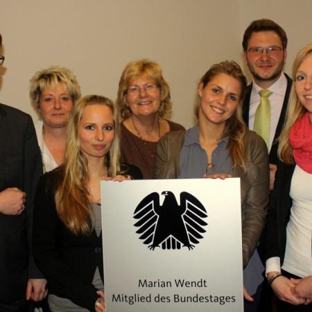 Bürgerbüroeröffnung - Marian Wendt und seine Mitarbeiter