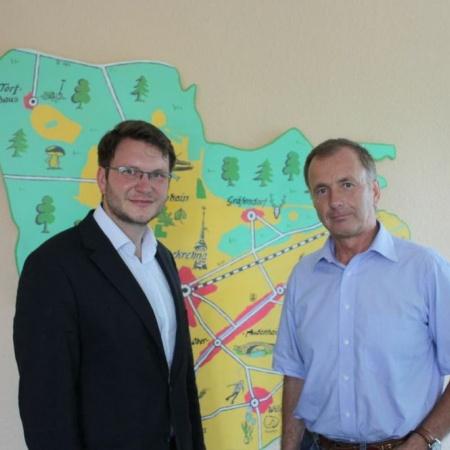 Im Gespräch mit Bürgermeister Peter Klepel