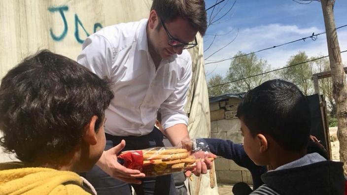 Marian Wendt besucht Flüchtlingslager im Libanon
