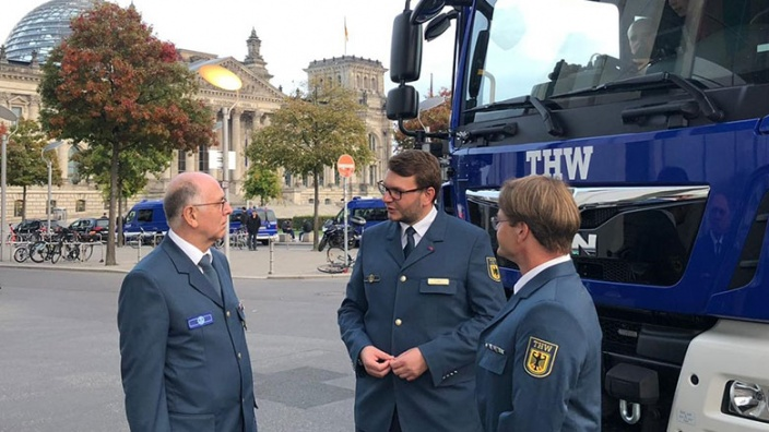 MdB trifft THW - Bundestag 2019