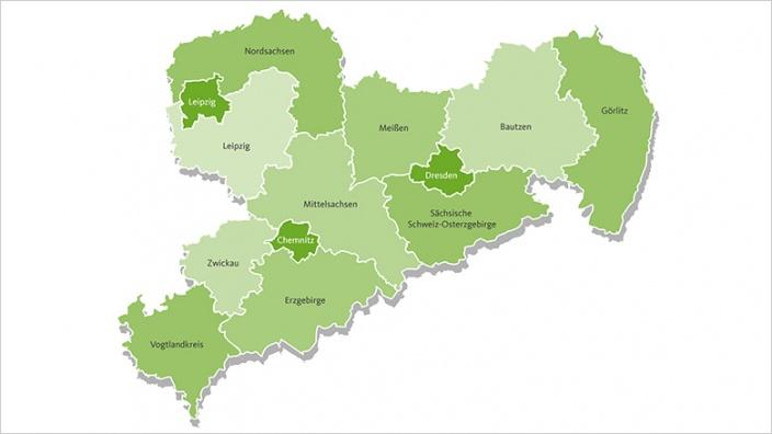 Sachsen Karte