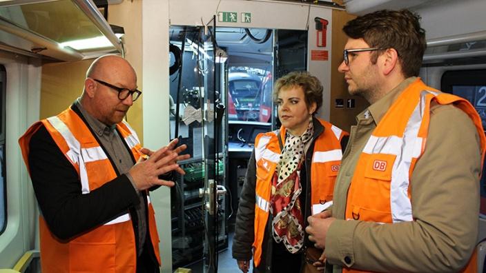 Marian Wendt informiert sich zur Bahn-Digitalisierung