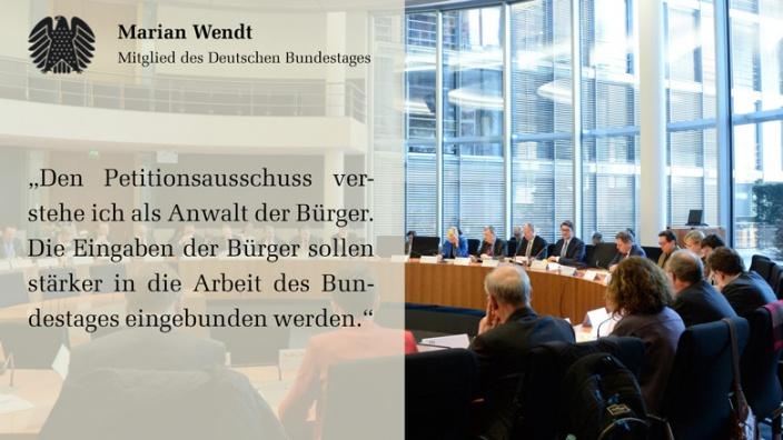 Marian Wendt Vorsitzender Petitionsausschuss